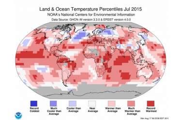 Ο Ιούλιος του 2015, ο θερμότερος όλων των εποχών