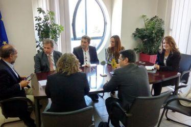 Κατσιφάρας με προέδρους ΣΚΕΑΝΑ και Ελληνο-Ιταλικό Επιμελητηρίο