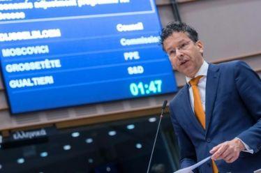 Ντάισελμπλουμ: Σωτηρία των ξένων επενδυτών στις ελληνικές πλάτες