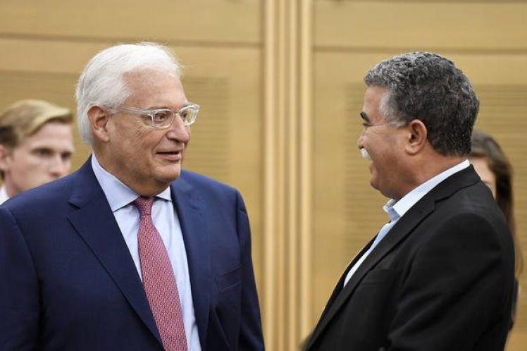 Πρέσβης των ΗΠΑ στο Ισραήλ: Το Ισραήλ έχει δικαίωμα να προσαρτήσει κομμάτι της κατεχόμενης Δυτικής Όχθης