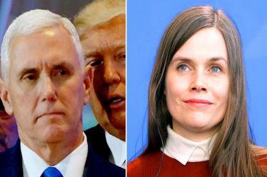 Η πρωθυπουργός της Ισλανδίας «έριξε πόρτα» στον αντιπρόεδρο των ΗΠΑ