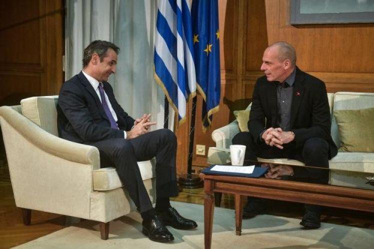 Τι συζήτησαν Μητσοτάκης – Βαρουφάκης για εθνικά θέματα, ελληνοαμερικανικές σχέσεις και εκλογικό νόμο